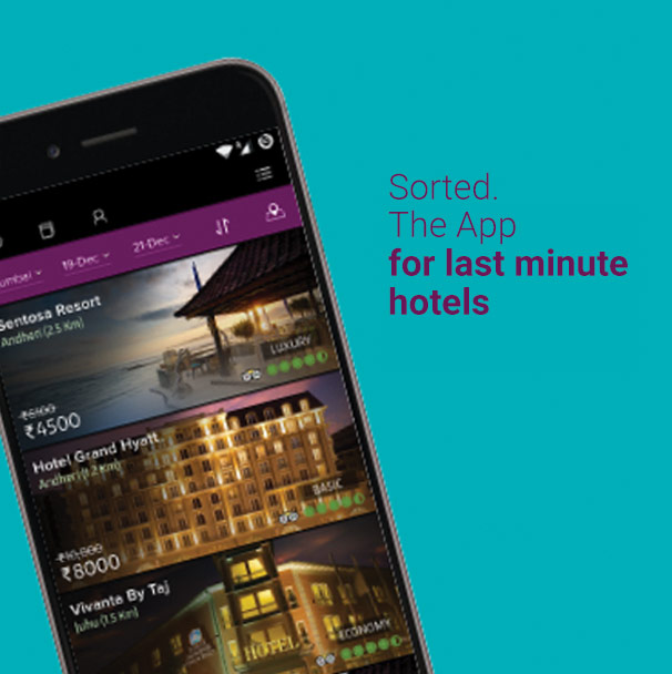 Sorted the app for last minute hotels